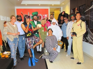 Sling Media staff dressed up for Halloween, 2012