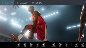 SlingPlayer for Windows 8 - menu