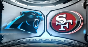 Panthers vs. 49ers graphic