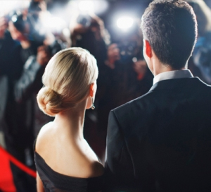 Hollywood couple on the red carpet